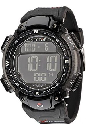 Sector Men's Digital Watch with LCD Dial Digital Display and PU Strap R3251172125