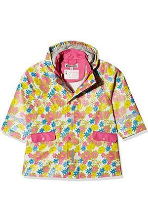 Playshoes Girl's Regenjacke Blumendruck Raincoat, Multicoloured (Weiß)
