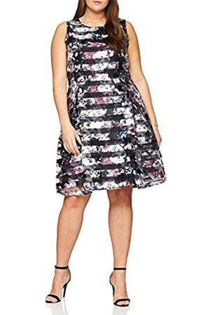 Simply Be Women's Confetti Print Burn Out Prom Dress, ( Floral)