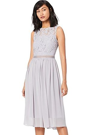 TRUTH & FABLE Women's Lace Bridesmaid Midi Dress