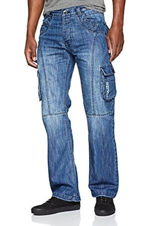Enzo Men's KZ103 Straight Jeans