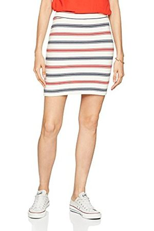 Tommy Hilfiger Women's Tjw Multicolor Stripe Mini Skirt, (Snow /Multi 901)