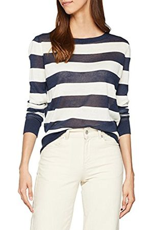 Tommy Hilfiger Women's Tjw Classic Stripe Sweater Jumper, (Snow / Iris 905)