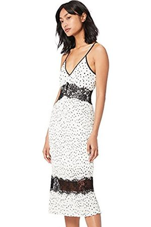TRUTH & FABLE Women's Lace Cami Party Dress, Off- (Spot Off- )