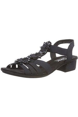 Womens V6262 Closed Toe Sandals, Blue Rieker