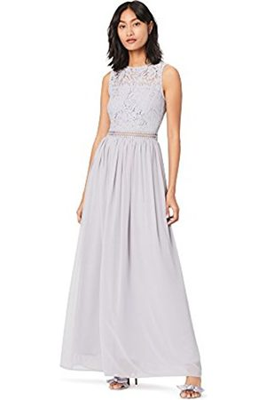 TRUTH & FABLE Women's Lace Trim Bridesmaid Maxi Party Dress