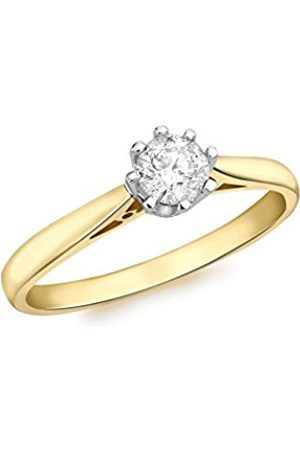 Carissima Gold Women's 18 ct Gold 0.33 ct Diamond Solitaire Ring - Size P