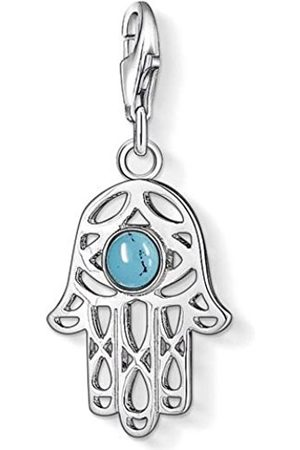 Thomas Sabo Women-Charm Pendant Hand of Fatima Charm Club 925 Sterling Silver simulated turquoise 1052-404-17 4FqiCcKh7