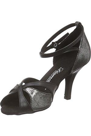 Diamant Women's 141-058-420 Dance Shoes Multi-Coloured Mehrfarbig (Schwarz/Platin Antik)
