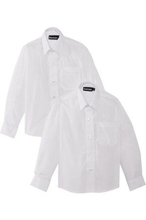 Blue Max Banner Boy's Twin Pack B Long Sleeve School Shirt