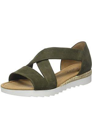 Women Comfort Sport Ankle Strap Sandals, Brown (Peanut Jute), 7.5 UK (41 EU) Gabor