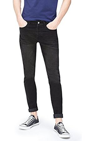 FIND Men's Skinny Jeans in 5-Pocket Detail Cropped with Button and Zip Closure