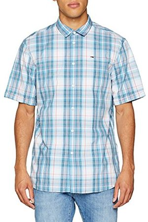Tommy Hilfiger Men's TJM Summer Check Casual Shirt, (Air /Multi 901)