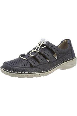 Womens 49855 Loafers, Blue Rieker