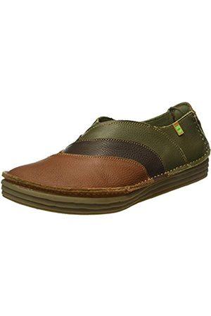 El Naturalista Women's NF84 Soft Grain Wood- -Kaki/Rice Field Loafers