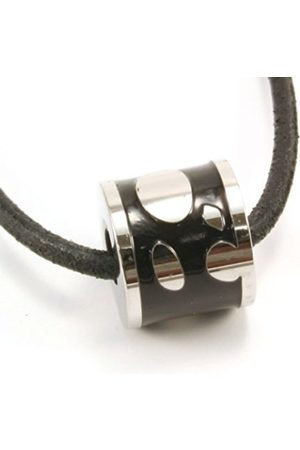 cored Q212 Mens' Leather Chain with Stainless Steel Pendant Length Fully Adjustable