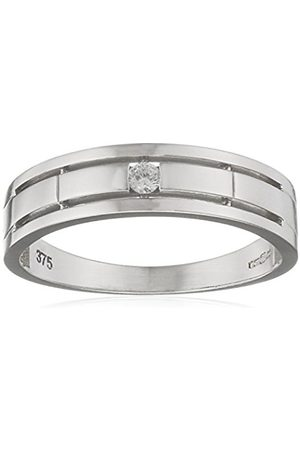 Citerna 9 ct Gold Wedding Band with a CZ Stone