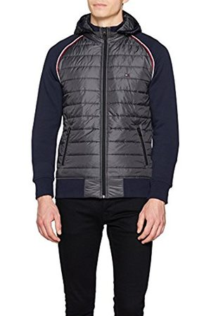 Tommy Hilfiger Men's Nylon Front Panel Hooded Zip Through Sweatshirt