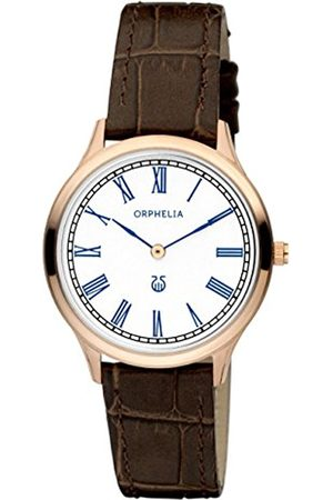 ORPHELIA Lavardin Women's Quartz Watch with Silver Dial Analogue Display and Leather Strap 11600