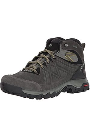 Salomon Men's Evasion 2 MID LTR GTX Hiking and Multifunction Shoe, Synthetic/Textile, (Castor Gray/Black/Chive)