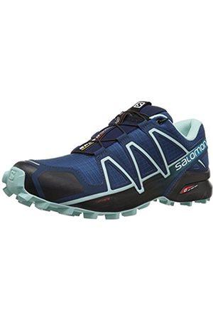 Salomon Women's Speedcross 4 Trail Running Shoe, Synthetic/Textile, (Poseidon/Eggshell / )