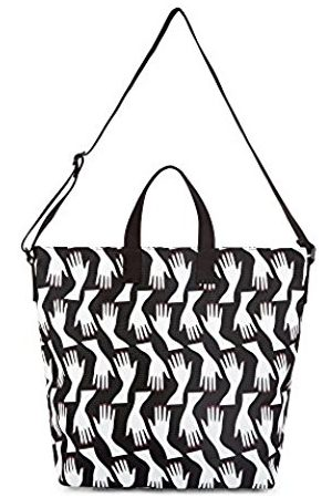 Lulu Guinness Women's Romy Canvas and Beach Tote Bag ( /Chalk)