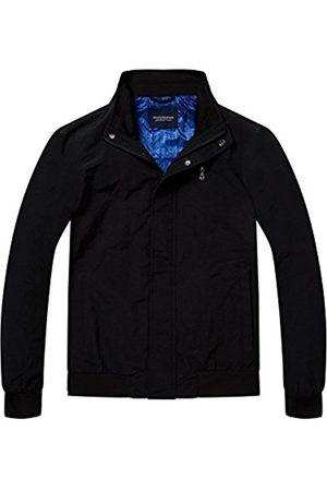 Scotch&Soda Men's Simple AMS Blauw Harrington Jacket