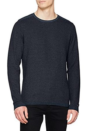 Tommy Hilfiger Men's Textured Denim Look Sweater Jumper