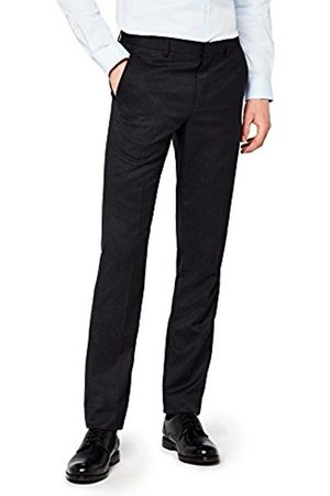 Hem & Seam Men's Slim Fit Textured Formal Trouser