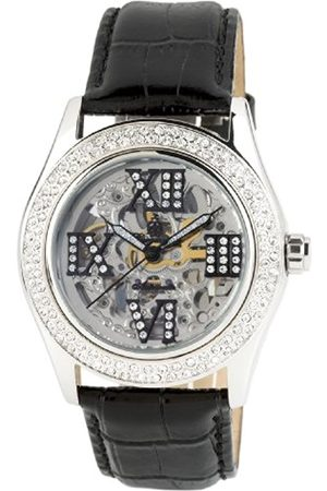 Burgmeister Ravenna Ladies Automatic Skeleton Watch BM140-102 With Swarovski Crystals And Leather Strap