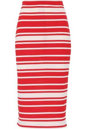 Prada Striped knit midi skirt