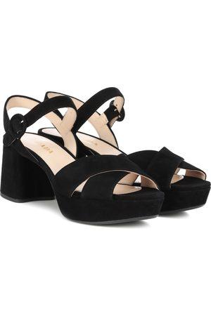 Prada Suede plateau sandals