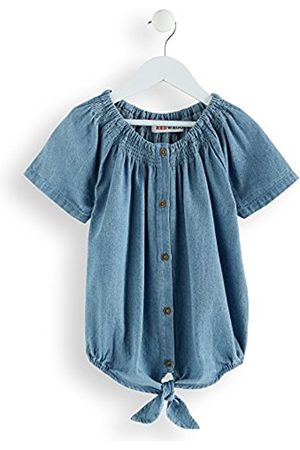 RED WAGON Girl's Chambray Tie Knot Blouse