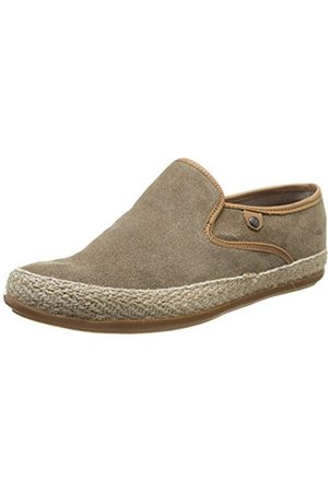 Base London Men's Sound Loafer Flats (Suede Taupe) 9