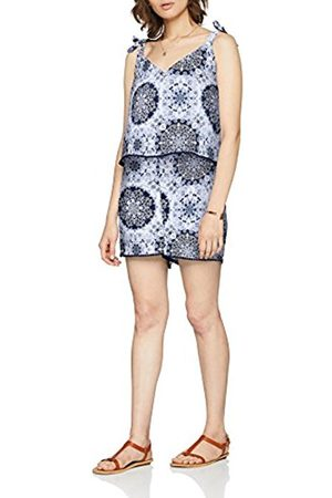 Only Women's Onlsummer Strap WVN Playsuit, Multicolour (Bright AOP: Night Sky Riviera Mandala)