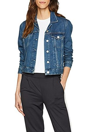 French Connection Women's Micro Western LS JKT Denim Jacket, (Washed Vintage)