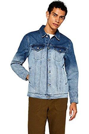 FIND Men's Dip Dye Denim Trucker Jacket