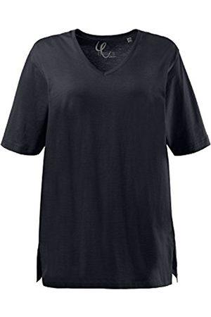 Ulla Popken Women's T-Shirt, V-Ausschnitt Regular Fit Short Sleeve T-Shirt