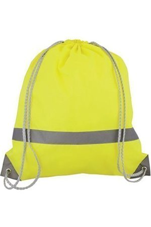 eBuyGB Pack of 10 High Visibility Reflective Drawstring Rucksack Casual Daypack