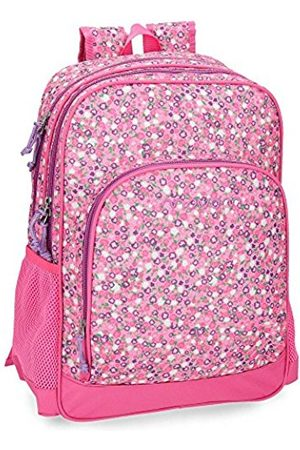 MOVOM Nina Fuchsia Double compartment adaptable school backpack 45cm