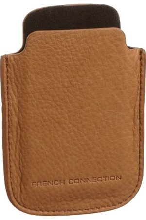 French Connection Men's Drummer Dried Leather Phone Holder Tan TRAI9