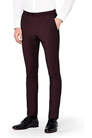Hem & Seam Men's Super Skinny Fit Tonic Formal Trousers