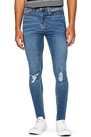 FIND Men's Super Skinny Distressed Jeans