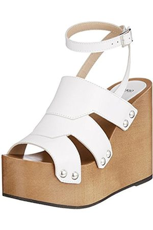 HUGO BOSS Women's Uptown Wedge-s Ankle Strap Sandals