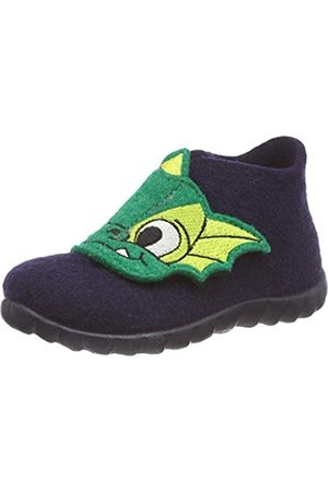 Superfit Boys' Happy Hi-Top Slippers