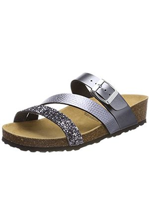 LICO Women's Natural Glitter Low-Top Slippers