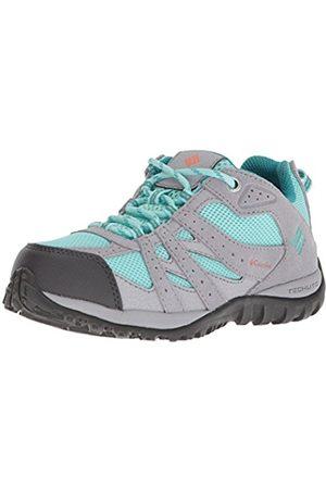 Columbia Children's Trail Running Shoes, Waterproof, Youth RougeMOND, (Gulf Stream/Bright Peach)