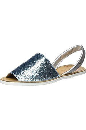 CUPLÉ Women's Abarca Glitter Open Toe Sandals