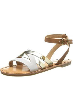 Tommy Hilfiger Womens JULIA 34A Ankle Strap Sandals Braun (SUMMER COGNAC/WHISPER /L 929) Size: 3.5
