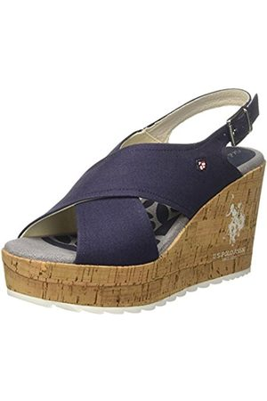 U.S. Polo Assn. Women's Theba Canvas Open Toe Sandals